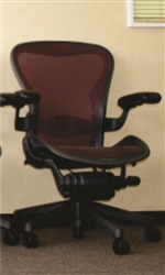 Herman Miller Aeron Chair Size B Loaded With Options In Burgundy