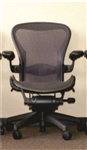Herman Miller Aeron Chair Size B Loaded With Options In Purple