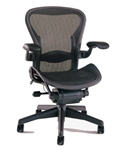 Herman Miller Aeron Chair Size B Semi Loaded In Black