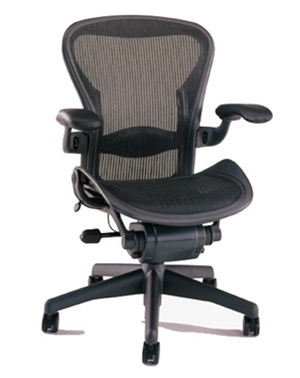 herman miller aeron chair size b semi loade in black refurbished