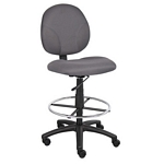 Boss Gray Fabric Drafting Stools W/Footring