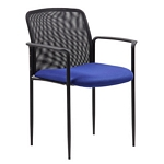 Boss Stackable Mesh Guest Chair - Blue