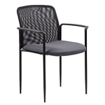 Boss Stackable Mesh Guest Chair - Grey