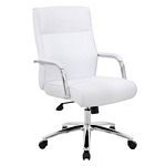 Boss Modern Executive Conference Chair - White