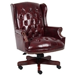 Boss Wingback Traditional Chair In Burgundy