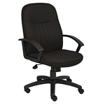 Boss Mid Back Fabric Managers Chair In Black