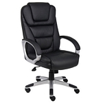 "Boss ""Ntr"" Executive LeatherPlus Chair W/ Knee Tilt"