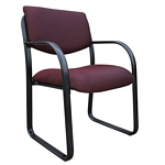 Boss Burgundy Fabric Guest Chair