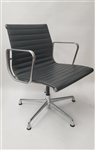 Herman Miller Eames Aluminum Group Management Side Chair With Arms and Casters