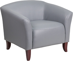 Flash Furniture Imperial Series Gray Leather Chair