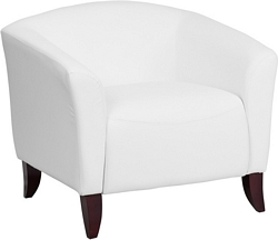 Flash Furniture Imperial Series White Leather Chair