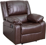 Flash Furniture Harmony Series Brown Leather Recliner