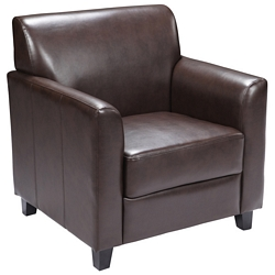 Flash Furniture Diplomat Series Brown Leather Chair