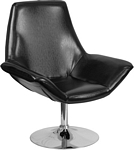 Flash Furniture Sabrina Series Black Leather Side Reception Chair