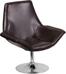 Flash Furniture Sabrina Series Brown Leather Side Reception Chair