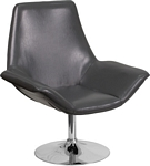 Flash Furniture Sabrina Series Gray Leather Side Reception Chair