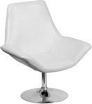 Flash Furniture Sabrina Series White Leather Side Reception Chair