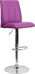 Flash Furniture Contemporary Purple Vinyl Adjustable Height Barstool with Chrome Base