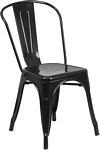Flash Furniture Black Metal Indoor-Outdoor Stackable Chair