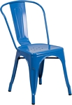 Flash Furniture Blue Metal Indoor-Outdoor Stackable Chair