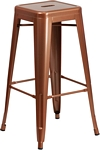 Flash Furniture 30'' High Backless Copper Indoor-Outdoor Barstool