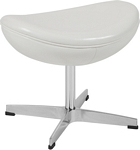 Flash Furniture Melrose White Leather Ottoman