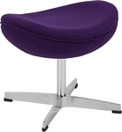 Flash Furniture Purple Wool Fabric Ottoman