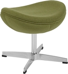 Flash Furniture Grass Green Wool Fabric Ottoman