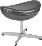 Flash Furniture Gray Leather Ottoman