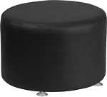 Flash Furniture Alon Series Black Leather 24'' Round Ottoman