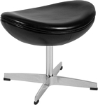 Flash Furniture Black Leather Ottoman