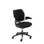 Humanscale Freedom Chair Fully Adjustable Model In Black Fabric