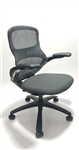 Knoll Generation Chair Fully Adjustable Model Black Leather Seat