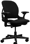Steelcase Leap Chair In Black Fabric