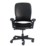 Steelcase Leap Chair V1 In Black Leather