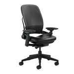 Steelcase Leap Chair V2 In Black Leather