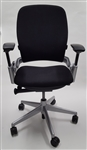 Steelcase Leap Chair V2 In Black Fabric Titanium Base