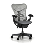 Herman Miller Mirra Chair Fully Featured In Black Refurbished
