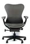 Herman Miller Mirra Chair Fully Featured In Black Latitude Back Refurbished