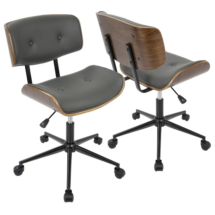 Lombardi Height Adjustable Office Mid-century Modern Chair with ...