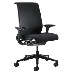 Steelcase Think Chair Fully Adjustable Model In Black Fabric Refurbished