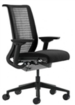 Steelcase Think Chair Fully Adjustable Model In Black Mesh Back Refurbished
