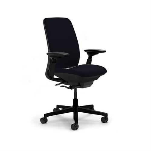 Steelcase amia chair fully adjustable model in black fabric