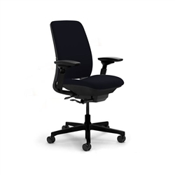 Steelcase Steelcase Amia Chair Fully Adjustable Model In Black Fabric Refurbished