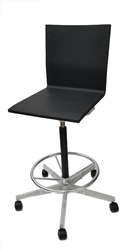 Vitra Studio Maarten Van Severen .04 Studio Drafting Stool Chair in Black