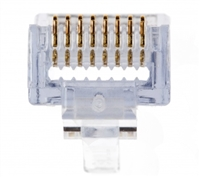Platinum Tools, 100010C,-SI, EZ-RJ45, CAT6, Connectors, Single,