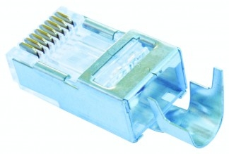 Platinum Tools, 100023C, Shielded, EZ-RJ45, CAT5E, CAT6, External Ground, 10, clamshell,