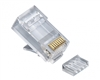 Platinum Tools, 106188J, Standard, CAT6, High Performance, RJ45, Connectors, 25, clamshell, 3-prong,