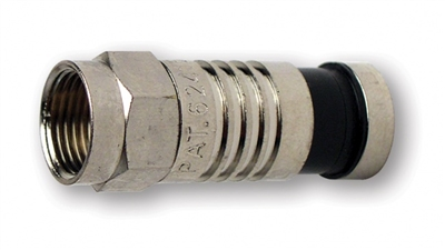 Platinum Tools F-Type Nickel SealSmart Coaxial Compression Connectors Single
