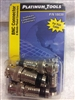 Platinum Tools 18039 BNC connector 6 pack Male compression BLACK Banded RG6